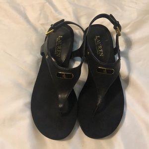 Ralph Lauren sandals, black-Sz 7